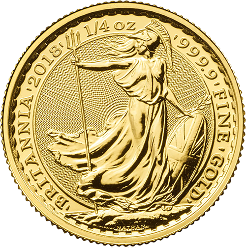 Picture of 2018 1/4oz 24k Gold UK Britannia