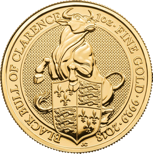 Picture of 2018 1oz 24k Gold Queen's Beast 'Black Bull of Clarence'